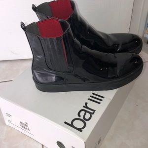 Black bar 3 ankle boots